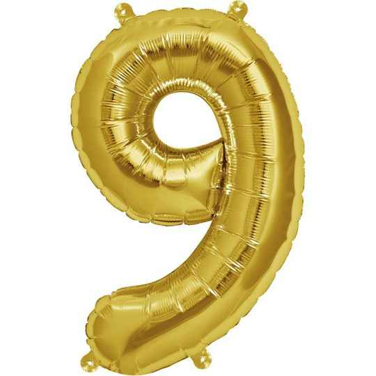 Number 9 foil balloon