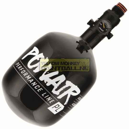 Paintball airsoft powair hpa 0,8ltr composiote fles incl regulator 300bar