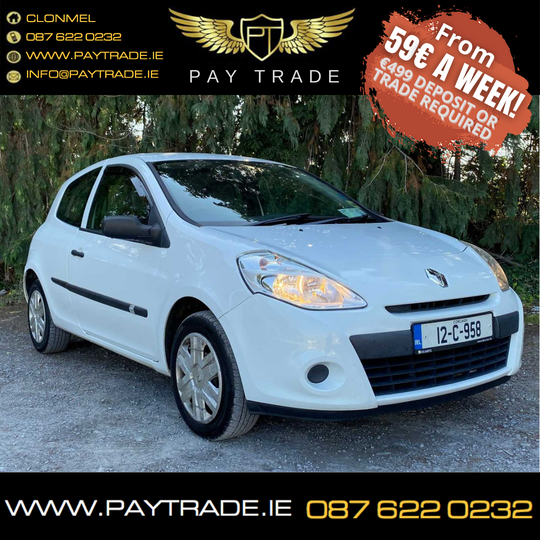 2012 RENAULT CLIO III EXPRESSION PERF FIRST CAR FINANCE WARRANTY