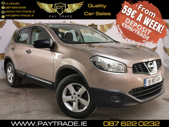 2010 NISSAN QASHQAI 1.5 XE 5DR ONE PREVIOUS OWNER FINANCE