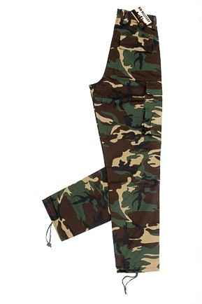 Camouflagebroek (bdu) Junior Woodland maat 140