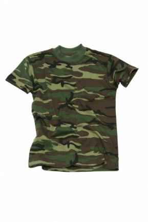 T- shirt Camo Kids Woodland