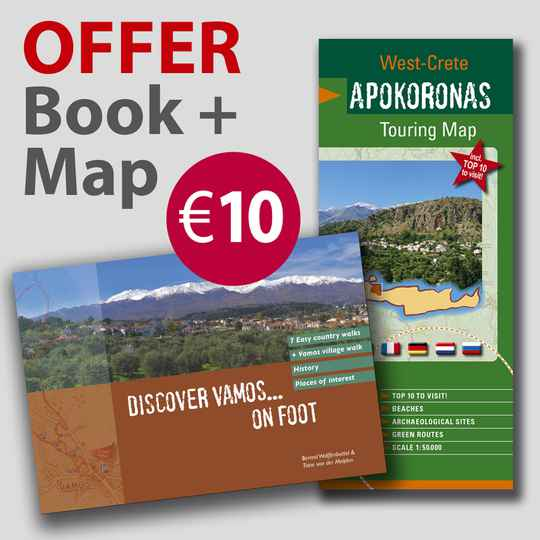 Discover Vamos... on Foot + Apokoronas Touring Map