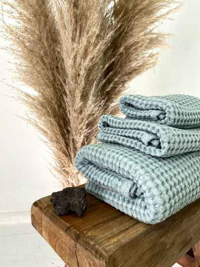 Bliss Linen - Towels Aqua