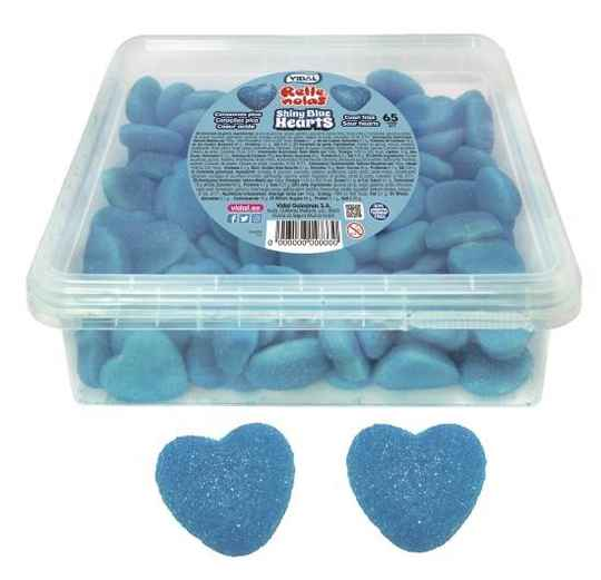 Shiny blue hearts