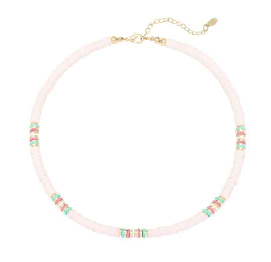 Baby pink beach necklace