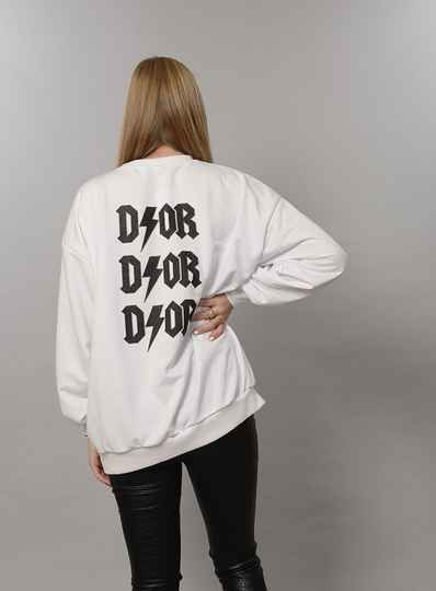 D/OR oversized sweater White