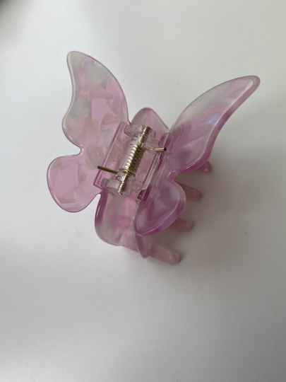 Hair clip butterfly pink