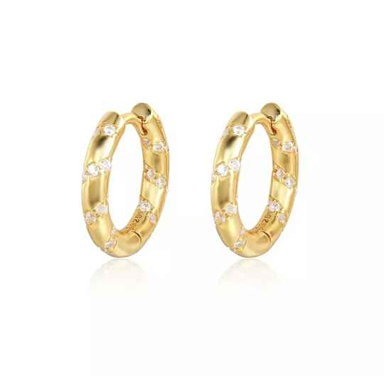 Icy hoops gold