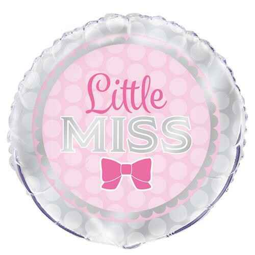 "Folieballon Pink Bow ""little Miss"""