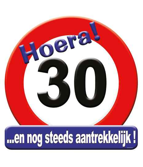 Huldeschild Hoera! 30