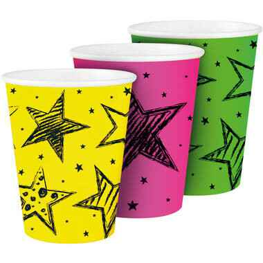 Neon Party Bekers