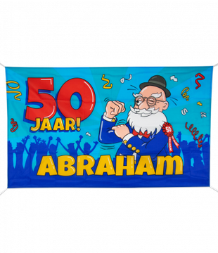 Gevelvlag Abraham Cartoon