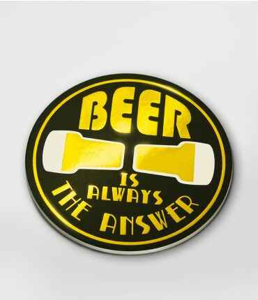Onderzetters glossy Beer is always the answer