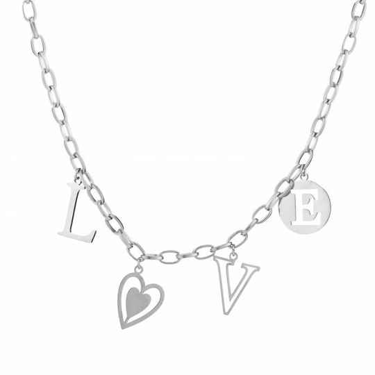 ketting- chain love zilver