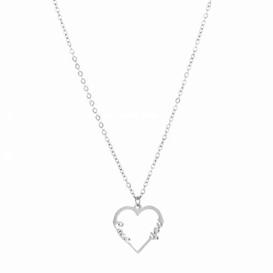 ketting- love you zilver