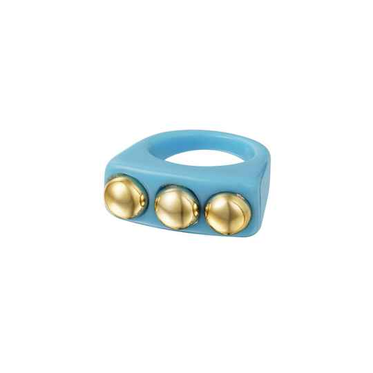 ring- candy blauw bolletjes
