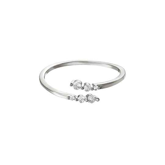 ring- sparkle zilver