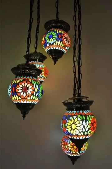 Oosterse 5 Bol Hanglamp