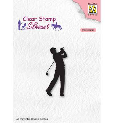 Nellie Snellen, Clear Stamp, Silhouette, Men-Things, Golfer -  SIL069