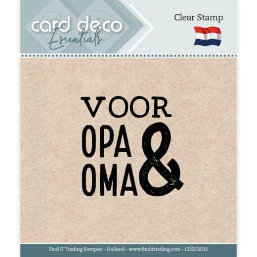 Card Deco, Clear Stamp, Voor Opa & Oma - CDECS033