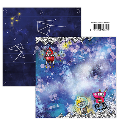 Studiolight, Art by Marlene, Scrappapier, Out of this World, nr. 60 - ABM-OOTW-SCRAP60