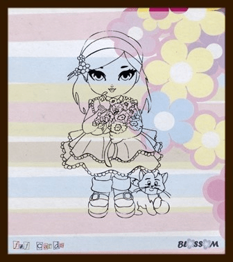 F&F, Clear Stamp, Blossom - BLOSS01