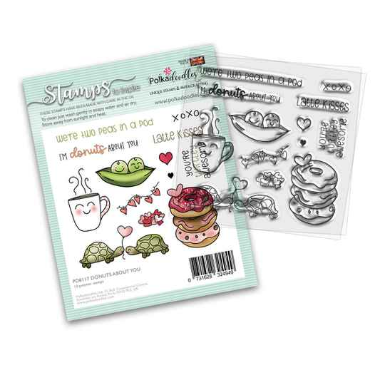 PolkaDoodles, Clear Stamp, Donuts about you - PD8117