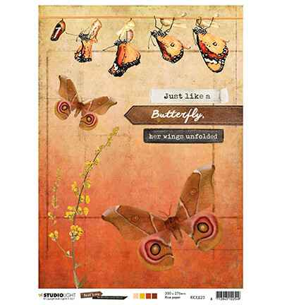 Studiolight, Rice Paper , Butterfly Collection nr. 23 - RICEJL23