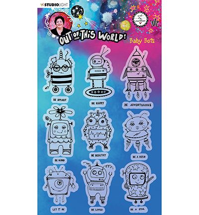 Studiolight, Art by Marlene, Clear Stamp, Out of this World, Baby Bots - ABM-OOTW-STAMP74