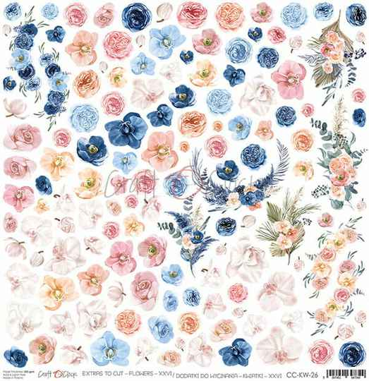 Craft O Clock, Scrapbookvel, Flowers Nr. 26, A sheet of extra's to cut