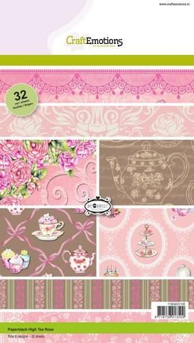 CraftEmotions, Paperpad, High Tea Rose - 118040/0106