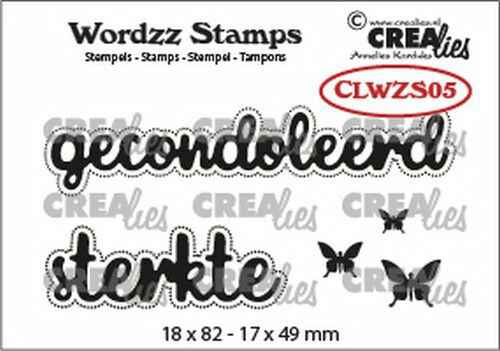 Crealies, Clearstamp, Wordzz, Gecondoleerd/Sterkte - CLWZS05