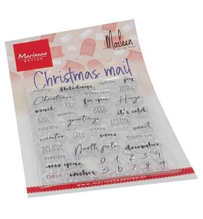 Marianne Design, Clear Stamp, Christmas Mail by Marleen - CS1070