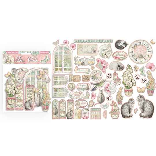 Stamperia, Die Cuts, Orchids and Cats - DFLDC26