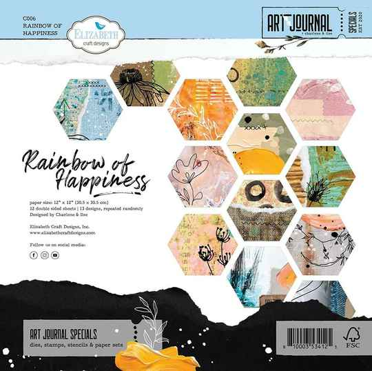 Elizabeth Craft Design, Scrapbook Paperpad, Rainbow of Happiness - C006