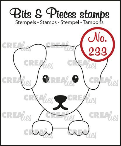 Crealies, Clear Stamp, Bits & Pieces, Hond  - CLBP233