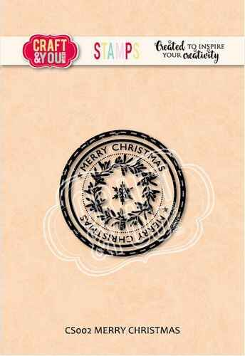 Craft & You, Clear Stamp, Merry Christmas - CS002