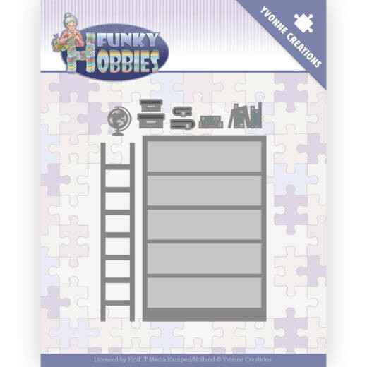 Yvonne Creations, Snijmal, Funky Hobbies, Bookcase -  YCD10228