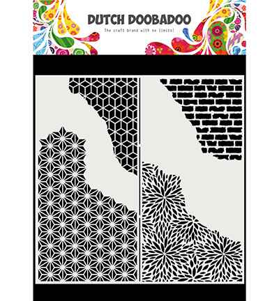 Dutch Doobadoo, Mask Art, Slimline Cracked Patterns - 470.715.822