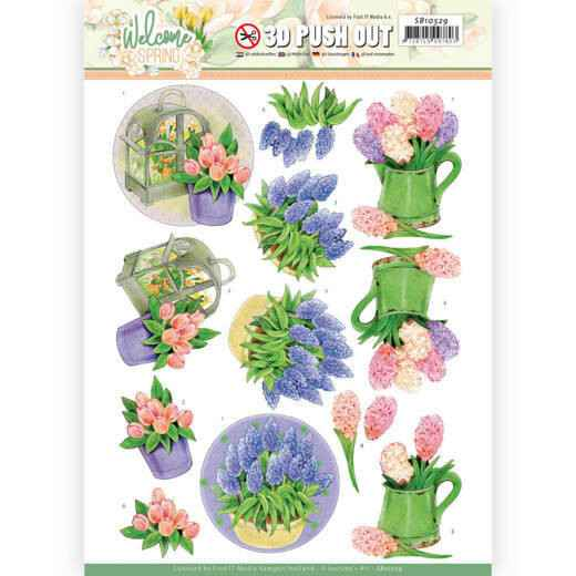 Jeanine's Art, 3D Push Out, Welcome Spring, Hyacinth - SB10529