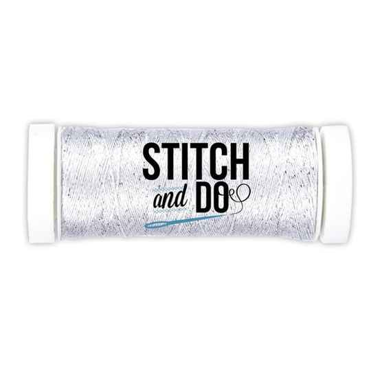 Stitch and Do, Sparkles Embroidery Thread, Silver - SDCDS02