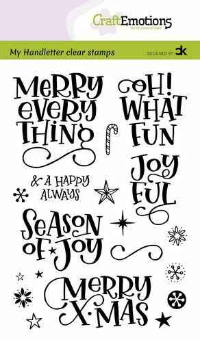 CraftEmotions, Clear Stamp, Handletter, Merry X-mas  - 130501/2201