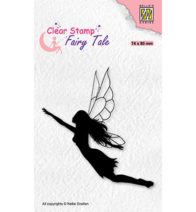 Nellie Snellen, Clear Stamp, Fairy Tale, Flying Elf - FTCS035