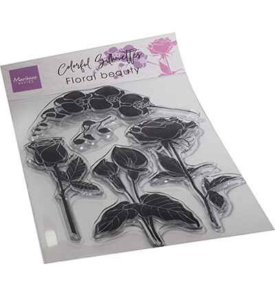 Marianne Design, Clear Stamp, Colorful Silhouette, Floral Beauty - CS1083