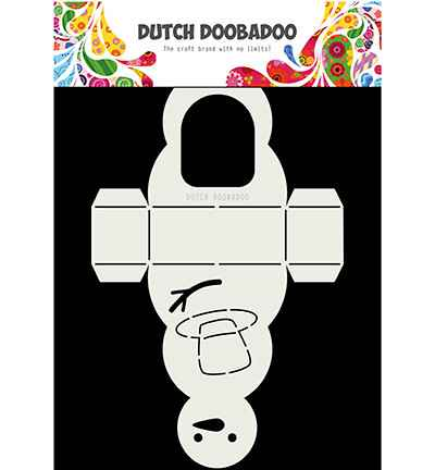 Dutch Doobadoo, Card Art, Snowman - 470.713.840