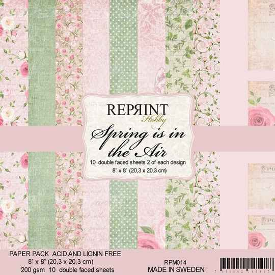 Reprint, Paperpad, Spring is in the Air Collection , 8x8 inch - RPM014