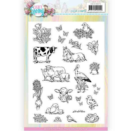 Amy Design, Clear Stamp, Enjoy Spring - ADCS10074