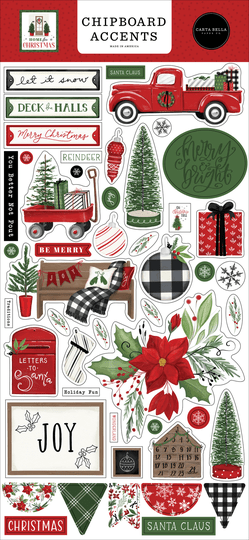 Carta Bella, Chipboard Accents , Home for Christmas - CBHFC139021