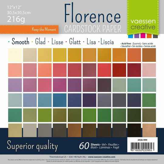 Florence, Cardstock, Smooth, Multipack, 30,5 x 30,5 cm - 2926-999